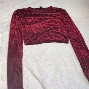 Velvet long sleeve shirt